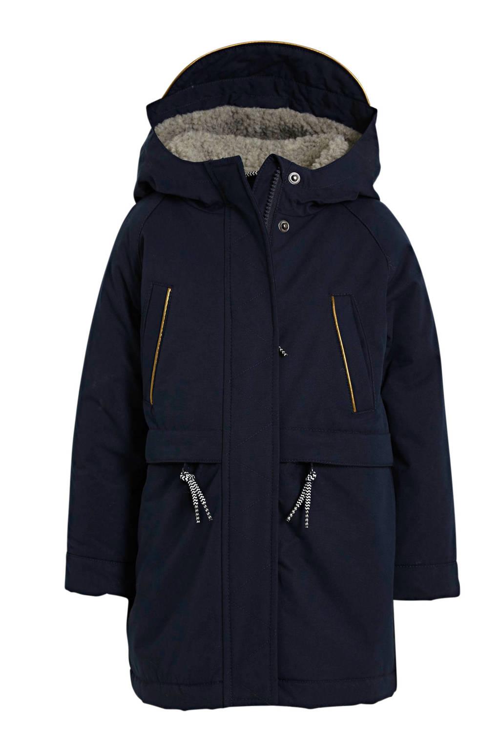 Noppies gewatteerde winterjas Virgina donkerblauw, Donkerblauw