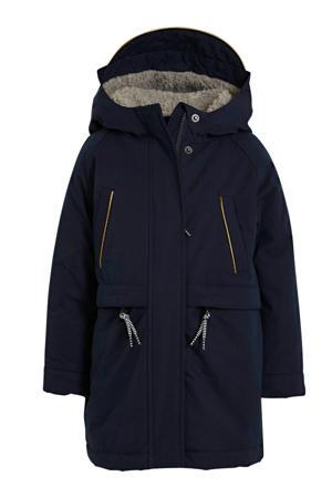 gewatteerde winterjas Virgina donkerblauw
