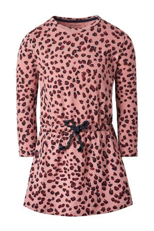 jurk Reitz met biologisch katoen roze/donkerrood