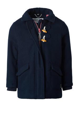 winterjas Wepener met logo donkerblauw