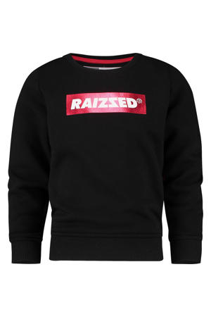 sweater Valletta met logo zwart