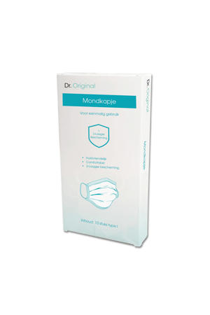 mondkapje voor eenmalig gebruik 3-laags (10 stuks)