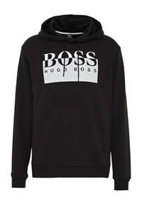 BOSS Casual hoodie met logo zwart, Zwart