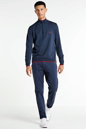trui donkerblauw/rood