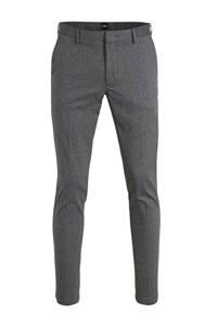 BOSS Menswear gemêleerde slim fit pantalon donkergrijs, Donkergrijs