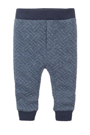 gemêleerde broek blauw