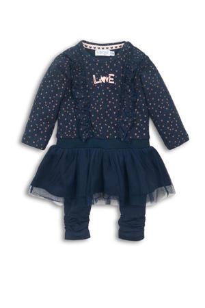 jurk + legging donkerblauw