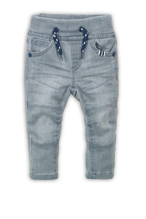slim fit jog denim grijs stonewashed