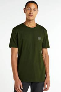 BOSS Casual T-shirt donkergroen, Donkergroen