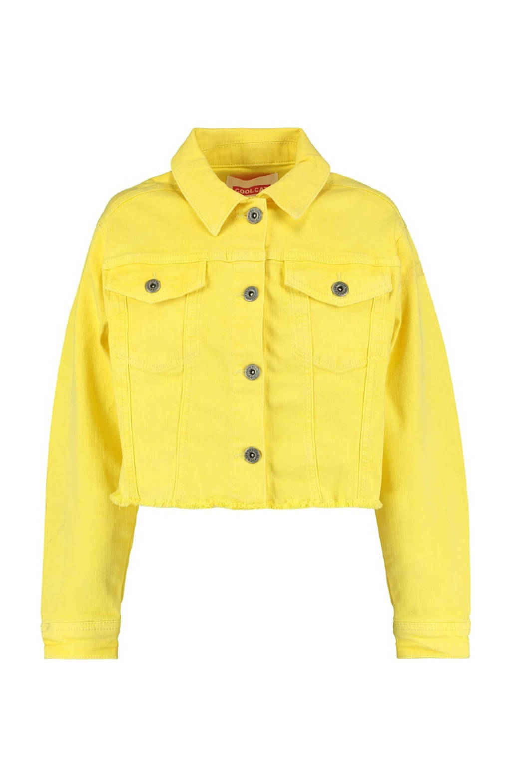 CoolCat Junior spijkerjas Hester geel, Geel
