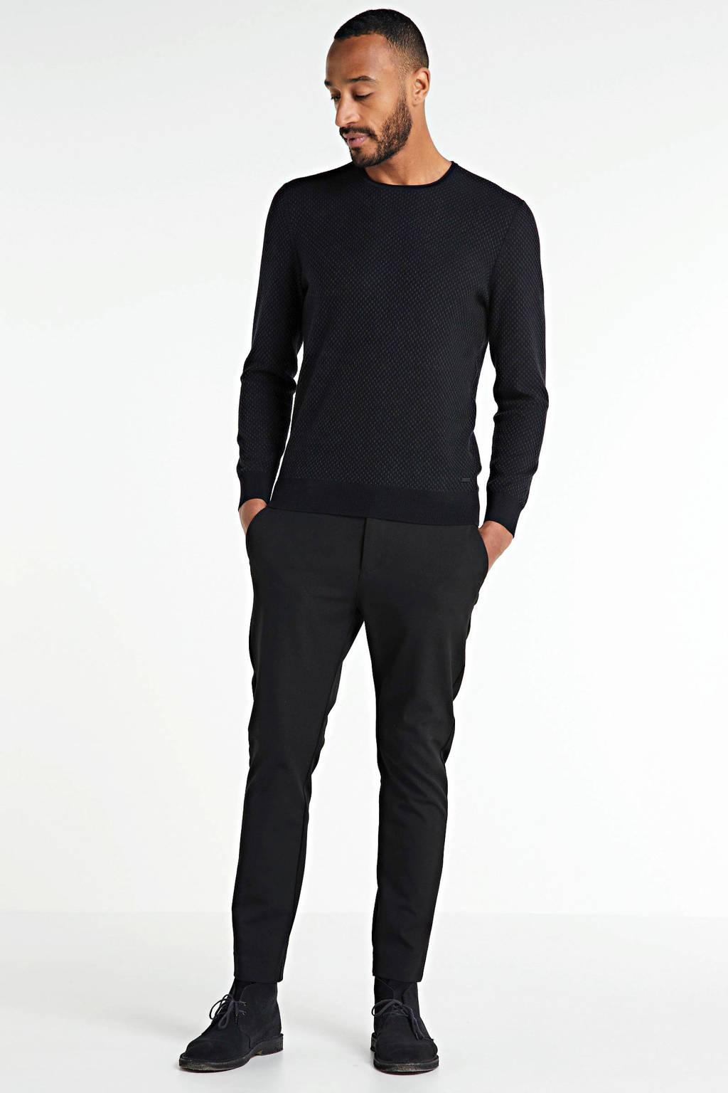 BOSS Casual gemêleerde trui Komallo zwart, Zwart
