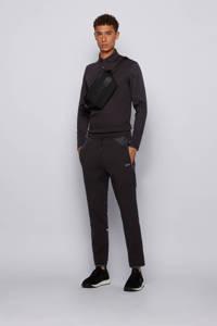 BOSS Athleisure Big & Tall regular fit polo zwart, Zwart