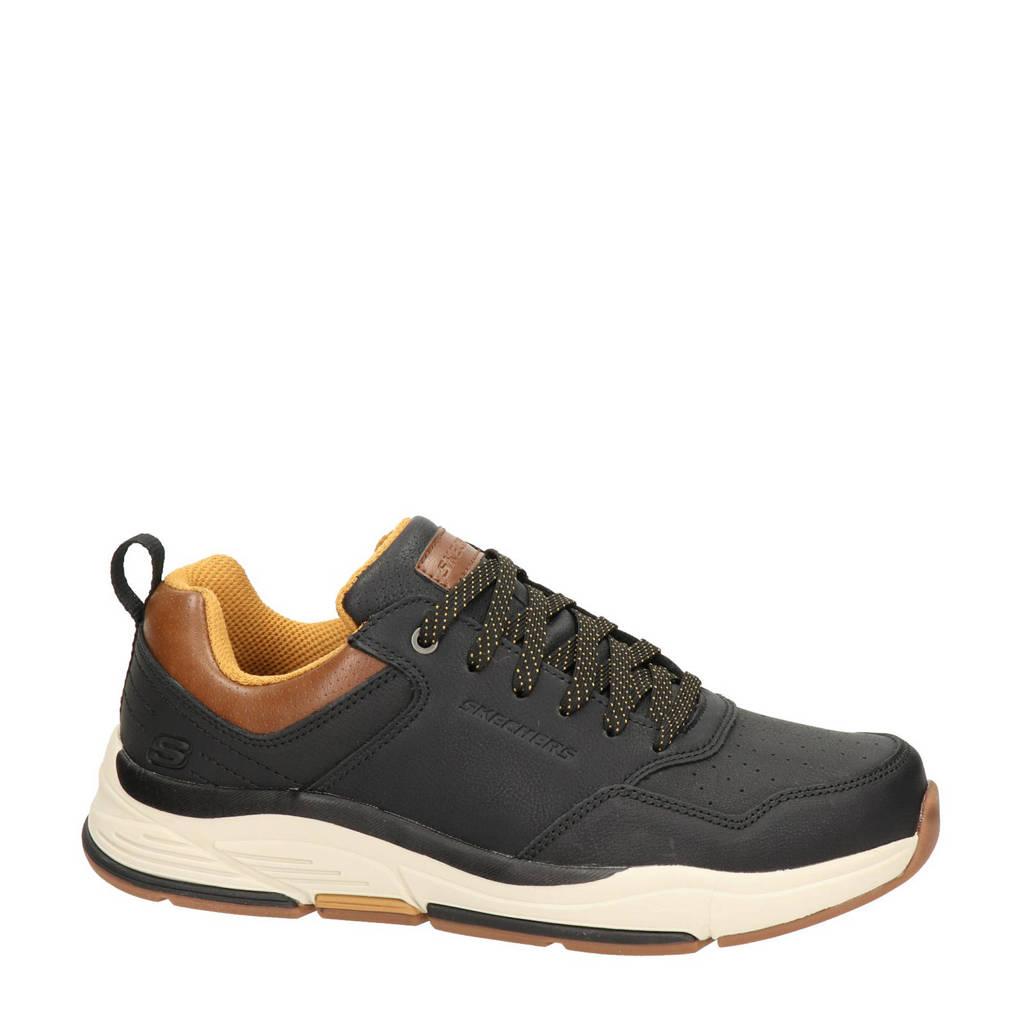 Skechers Streetwear  veterschoenen zwart, Zwart/bruin