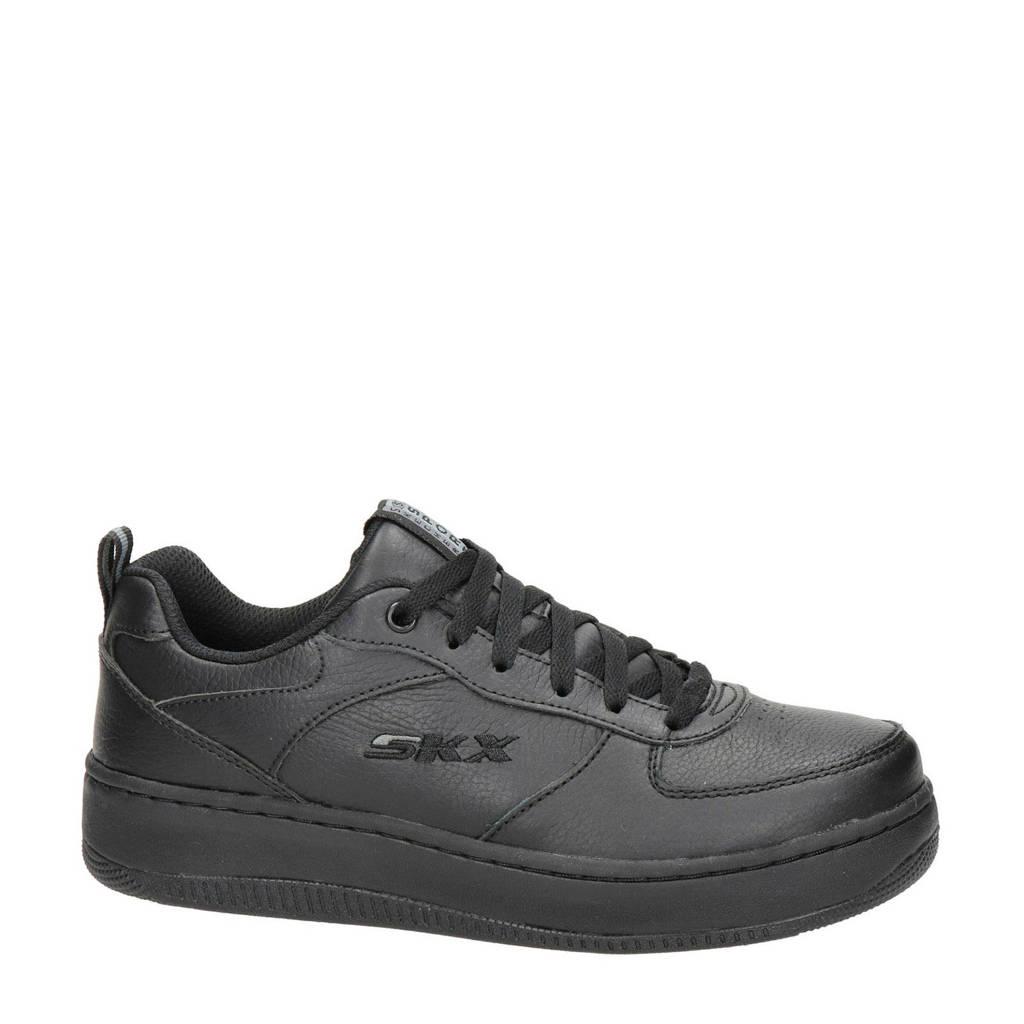 Skechers SKX  leren sneakers zwart, Zwart