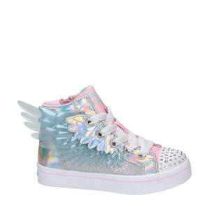 Twinkle Toes  hoge sneakers met lichtjes zilver