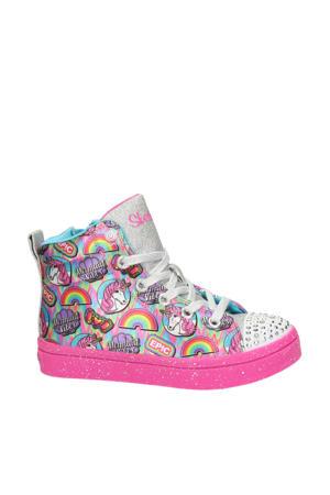 Twinkle Toes  hoge sneakers met lichtjes roze