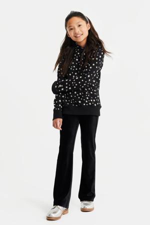 hoodie met sterren zwart/wit