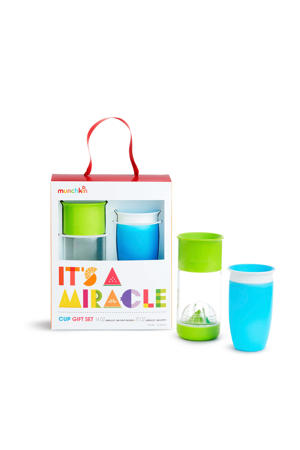 its a miracle drinkbeker blue green