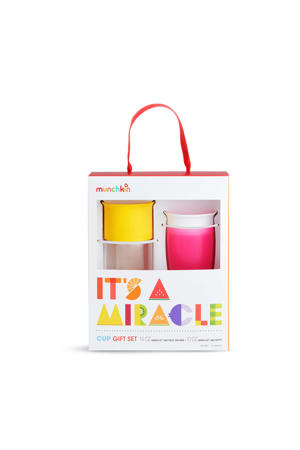 its a miracle drinkbeker pink yellow