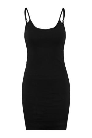ribgebreide jersey jurk Drew zwart
