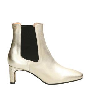 leren chelsea boots goud