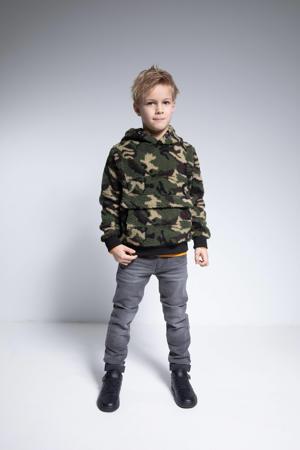 hoodie met camouflageprint donkergroen