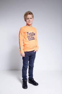 TYGO & vito sweater met contrastbies oranje, Oranje