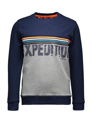 sweater donkerblauw/wit/oranje