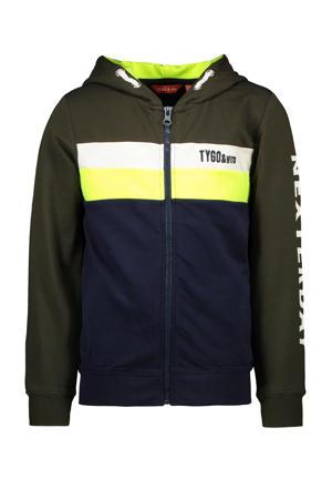 vest army groen/geel/donkerblauw/geel