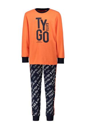 pyjama printopdruk oranje/zwart