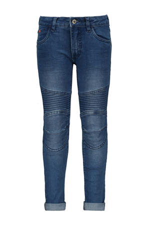 skinny jeans met textuur stonewashed