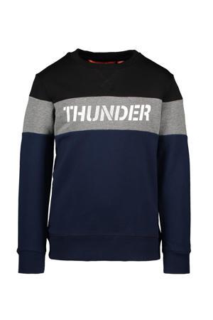 sweater donkerblauw/zwart