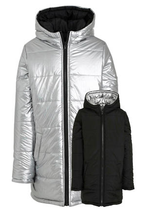 reversible winterjas Wandynn zilver/zwart