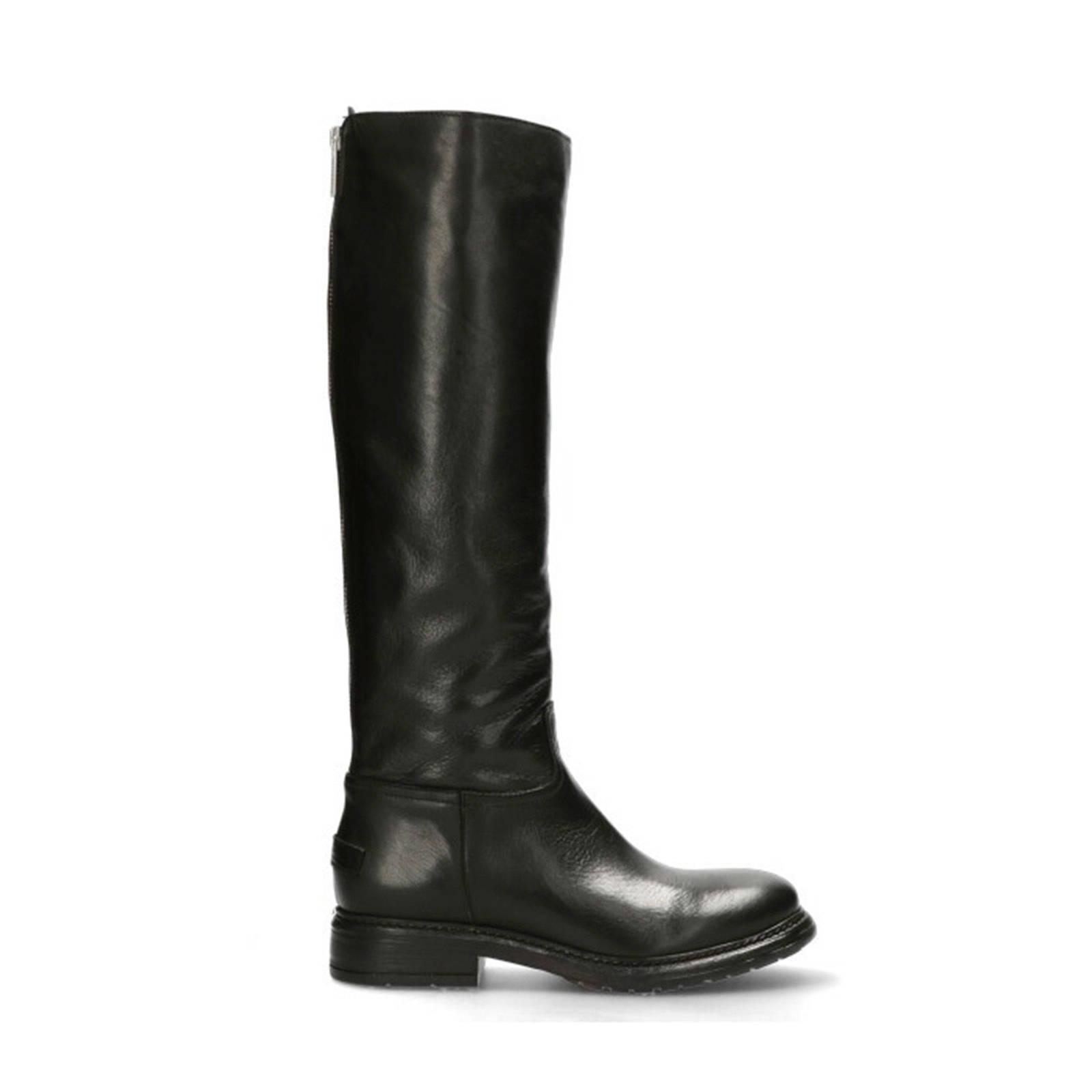 Shabbies Amsterdam leren laarzen zwart | wehkamp