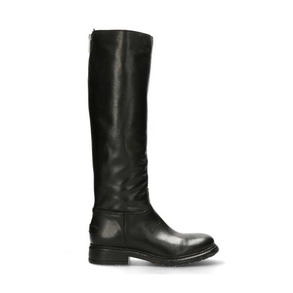 Shabbies Amsterdam   leren laarzen zwart, Zwart