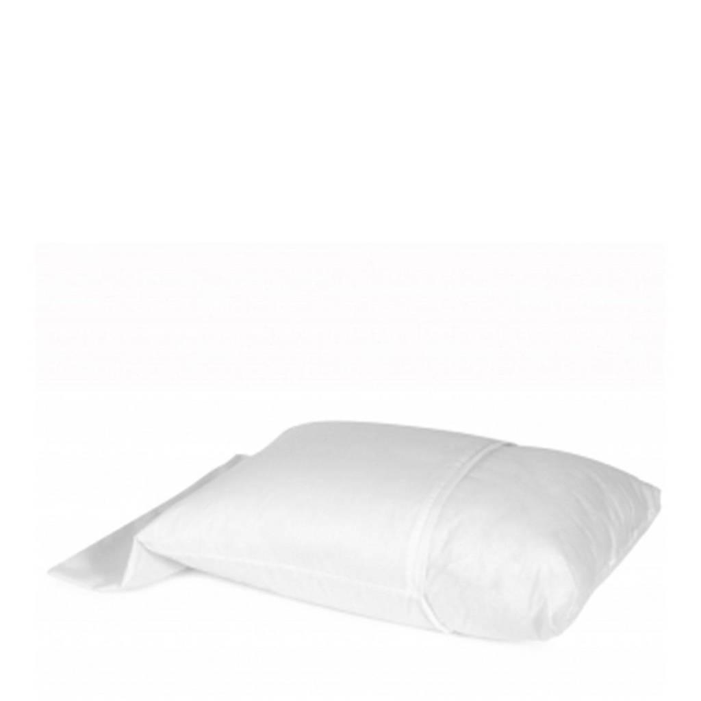 Vandyck polyester molton stretch kussensloop met rits (set van 2), Wit