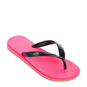 Classic Brasil  teenslippers roze/zwart