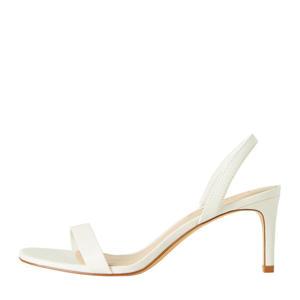 leren sandalettes wit
