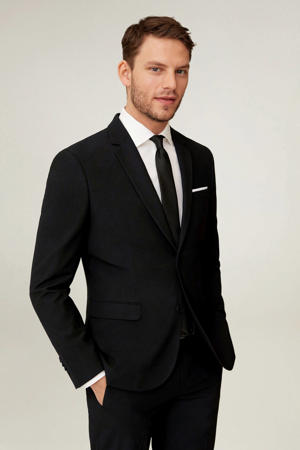 super slim fit colbert zwart