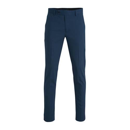 Mango Man slim fit pantalon blauw