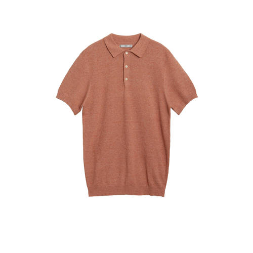 Mango Man regular fit polo zalm
