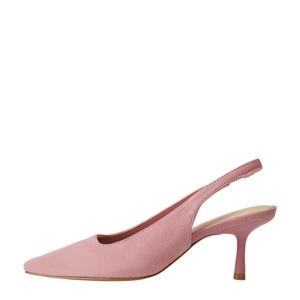 suède slingback pumps roze