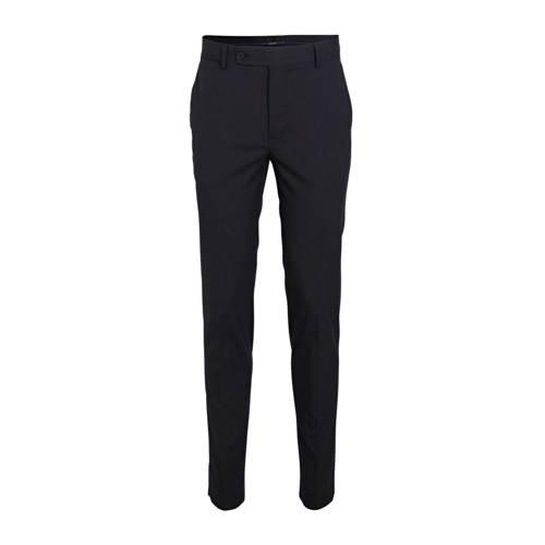 Mango Man slim fit pantalon donkerblauw