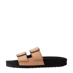 slippers bruin/zwart
