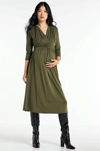 LOVE2WAIT zwangerschapsjurk olijfgroen, Olijfgroen