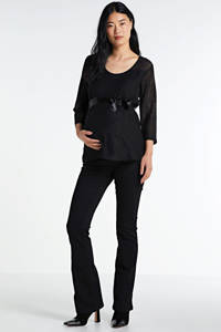 LOVE2WAIT kanten zwangerschapstop Lace zwart, Zwart