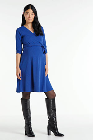 zwangerschaps- en voedingsjurk marine blauw
