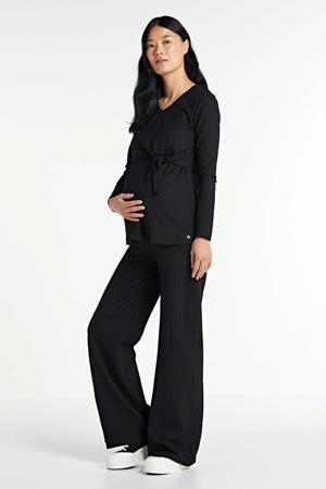 zwangerschaps- en voedingstop zwart