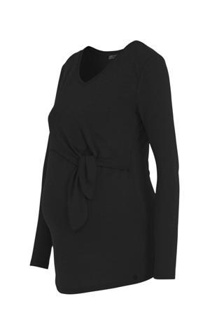 zwangerschaps- en voedingstop Shirt l.sl. Nursing Crincle zwart