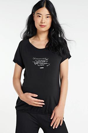 zwangerschapsshirt met tekst zwart